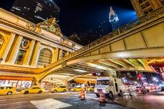 Pershing fyrkant, i Manhattan, New York City Arkivbild