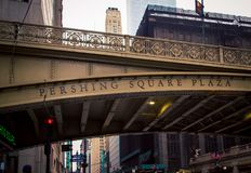 Pershing fyrkantbro New York City Arkivbilder