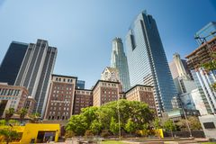 Pershing square in downtown of Los Angeles royalty free stock photos