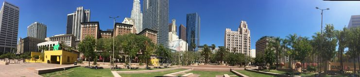 Pershing Square DTLA. Panoramic shot of DTLA's most famous DT Royalty Free Stock Images