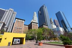 Pershing Square, LA Stock Photo