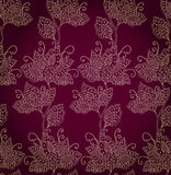 Persian. Seamless floral pattern with scroll persian design stock illustration