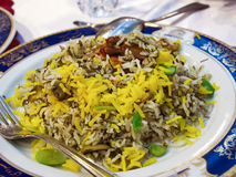 Persian albaloo polo with sour cherries and chicken Stock Image
