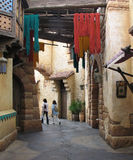 Persian alley. Tourists in a Persian alley Royalty Free Stock Image