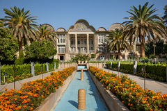 Persian Bagh Eram Garden and its Pavilion in City of Shiraz Stock Photography