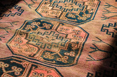 Persian Carpet Close Up Stock Photo