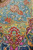 Persian carpet. Sold in a carpet shop in Iran royalty free stock images