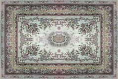 Persian Carpet Texture, abstract ornament. Round mandala pattern, Middle Eastern Traditional Carpet Fabric Texture. Turquoise milk. Y blue grey brown yellow red royalty free stock image