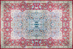 Persian Carpet Texture, abstract ornament. Round mandala pattern, Middle Eastern Traditional Carpet Fabric Texture. Turquoise milk. Y blue grey brown yellow red stock images