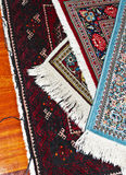 Persian carpets. Four different persian carpets with their typical colored textures Royalty Free Stock Image
