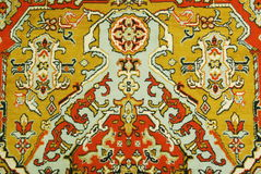 Persian carpets. Close-up red with yellow Stock Photos