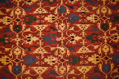Persian carpets. Close-up red with yellow Royalty Free Stock Photos