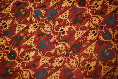 Persian carpets. Close-up red with yellow Royalty Free Stock Photography