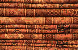 Persian carpets on display Stock Image