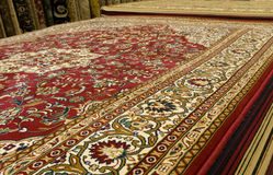 Persian carpets on display Royalty Free Stock Photography