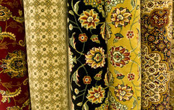 Persian carpets on display Stock Photo