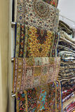 Persian carpets. On display in a carpet store Royalty Free Stock Photography