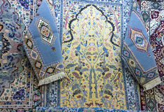 Persian carpets in Morocco, oriental Moroccan ornamets. Persian carpets in Morocco, oriental Moroccan ornametals Stock Photography