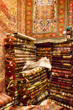 Persian carpets. Photo from a persian carpet shop. Persian carpets are famous all over the world Royalty Free Stock Images