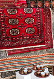 Persian carpets in shop, Eastern souvenirs. Persian carpets in shop Eastern souvenirs Stock Photography
