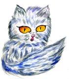 Persian Cat Sketch Royalty Free Stock Images
