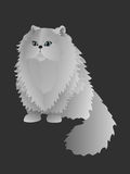 Persian Cat Vector Illustration Royalty Free Stock Photos
