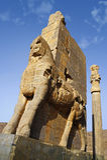 Persian civilization landmark Persepolis next to Shiraz city in Iran showing ruin temple palace Stock Image