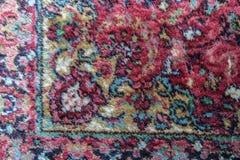Persian Classical Carpet Woven Detail. Close Up stock photo