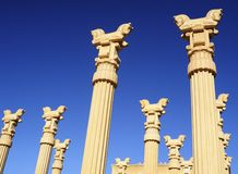 Persian Columns with Stylized Capitals Stock Photo