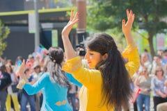 Persian dancers performing Royalty Free Stock Photos