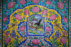 Persian decorated tiles Stock Images