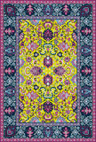 Persian detailed  carpet. Persian style detailed  carpet Stock Images