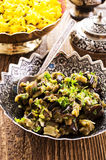 Persian Eggplants with Herbs Royalty Free Stock Photography
