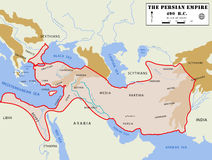 Persian Empire map (detailed) stock image
