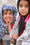 Persian girls. Two female children in traditional Iranian cloths, Iran, Yazd, 2012 Royalty Free Stock Image