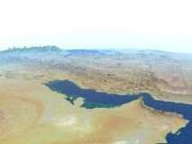 Persian Gulf on planet Earth Royalty Free Stock Images