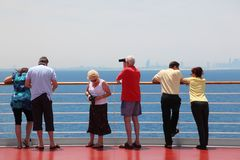 Persian gulf: tourists on cruise ship Royalty Free Stock Images