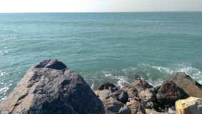 Persian gulf from united arab emirates. Shores of ras al khaimah Royalty Free Stock Photos