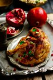 Persian Honey Glazed Chicken and Jeweled Rice. Selective focus Royalty Free Stock Photo