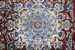 Persian Kashan rug Stock Photo