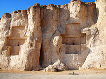 Persian king's tomb in Naqsh-e Rustam, Iran Royalty Free Stock Photography