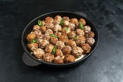 Persian Koofteh Berenji, rice kufta. Meat meatball royalty free stock images