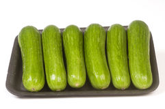 Persian mini cucumbers Royalty Free Stock Images