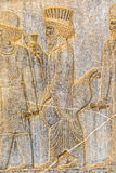 Persian nobleman relief detail Persepolis Royalty Free Stock Photos
