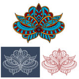 Persian paisley flower with curly elements Royalty Free Stock Images