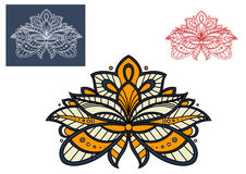 Persian paisley flower graphic design Stock Photo