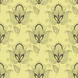 Persian paisley seamless floral pattern Royalty Free Stock Photos