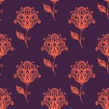 Persian paisley seamless pattern Royalty Free Stock Photos