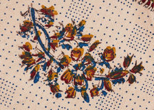 Persian qalamkar's ornament close-up. Royalty Free Stock Image