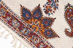 Persian qalamkar's ornament close-up. Royalty Free Stock Photography